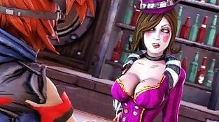 Mad Moxxi fucked with strap-on