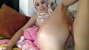 Real Arab Exposed Muslim Teen Squirting Orgasm On Porn Hijab Webcam
