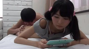 Fucking Asian Girl Playing Nintendo 3DS