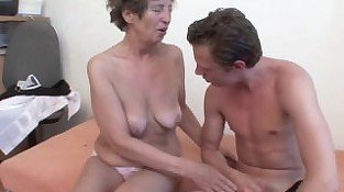 82yr old German Granny assfucked by 18yr old Boy