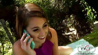 Riley Reid moaning at her neighbours BBC