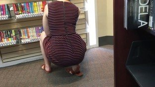 20yr old library pawg teasing me with her fat ass