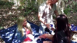 Young and lustful blonde is giving a perfect blowjob